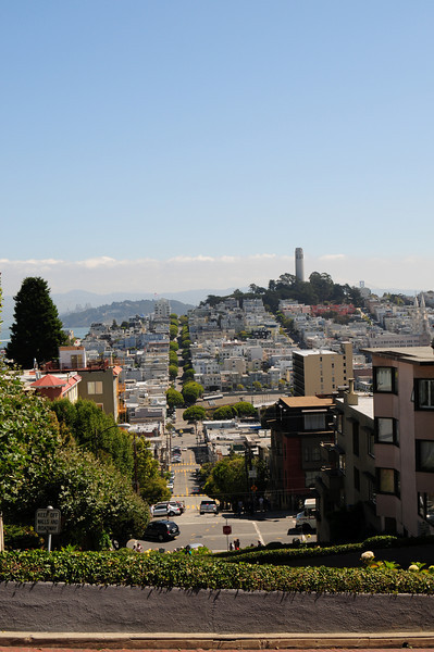 At the top of Lombard Street.