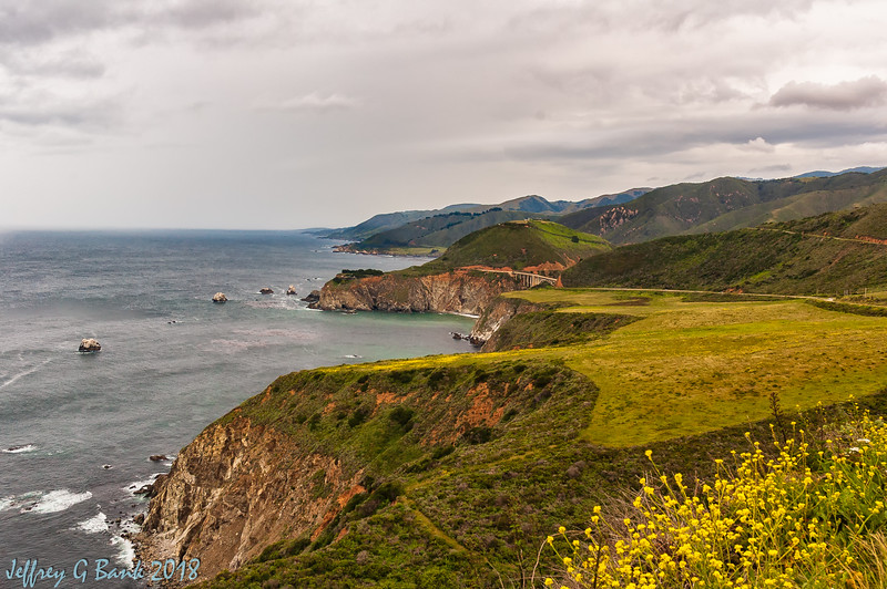 DSC_1250-Edit -  View from Hurricane Point, Big Sur. Bixby Creek Bridge in background