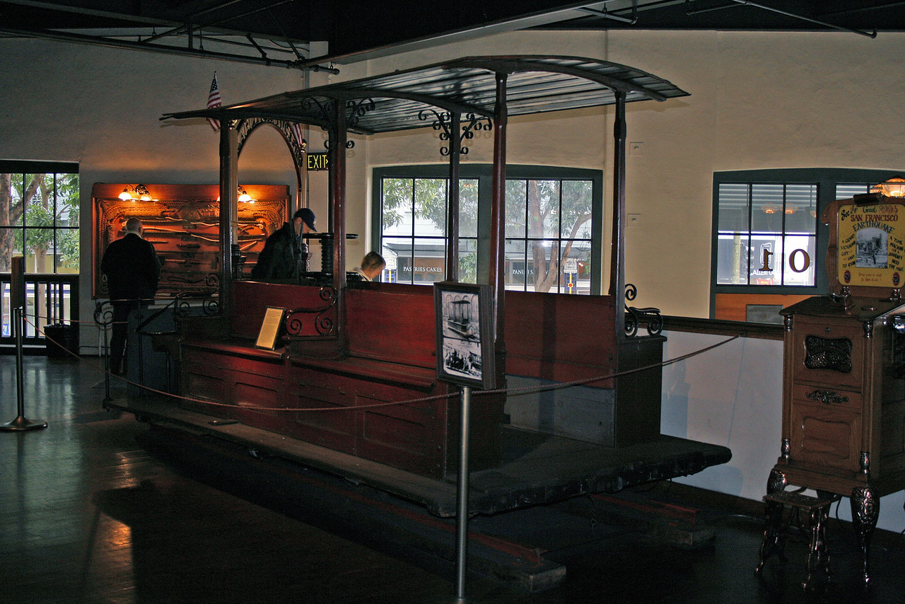 Feb. 19/08 - Vintage cable car at Cable Car Museum, San Francisco