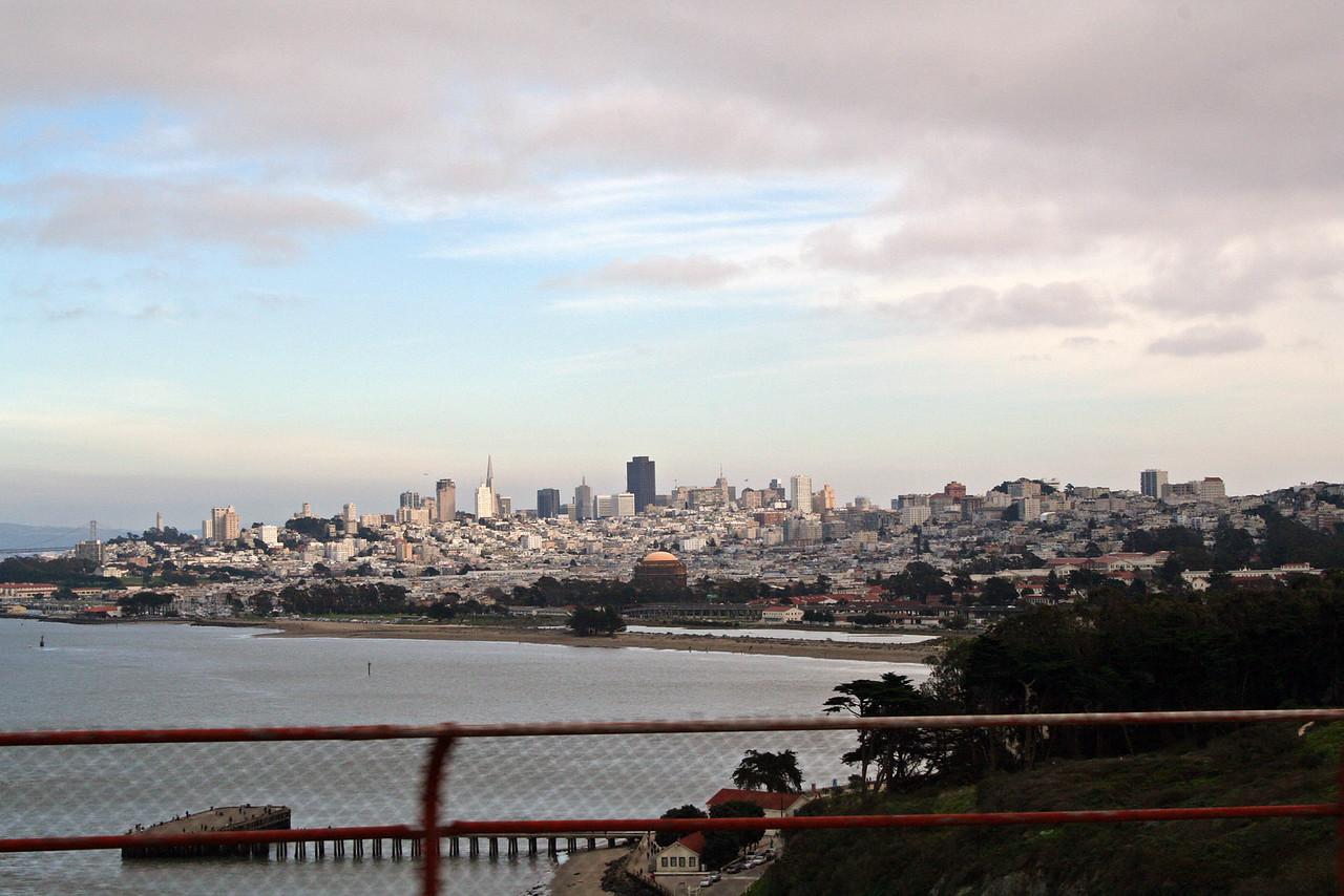 Feb. 18/08 - S.F. from the Golden Gate Bridge