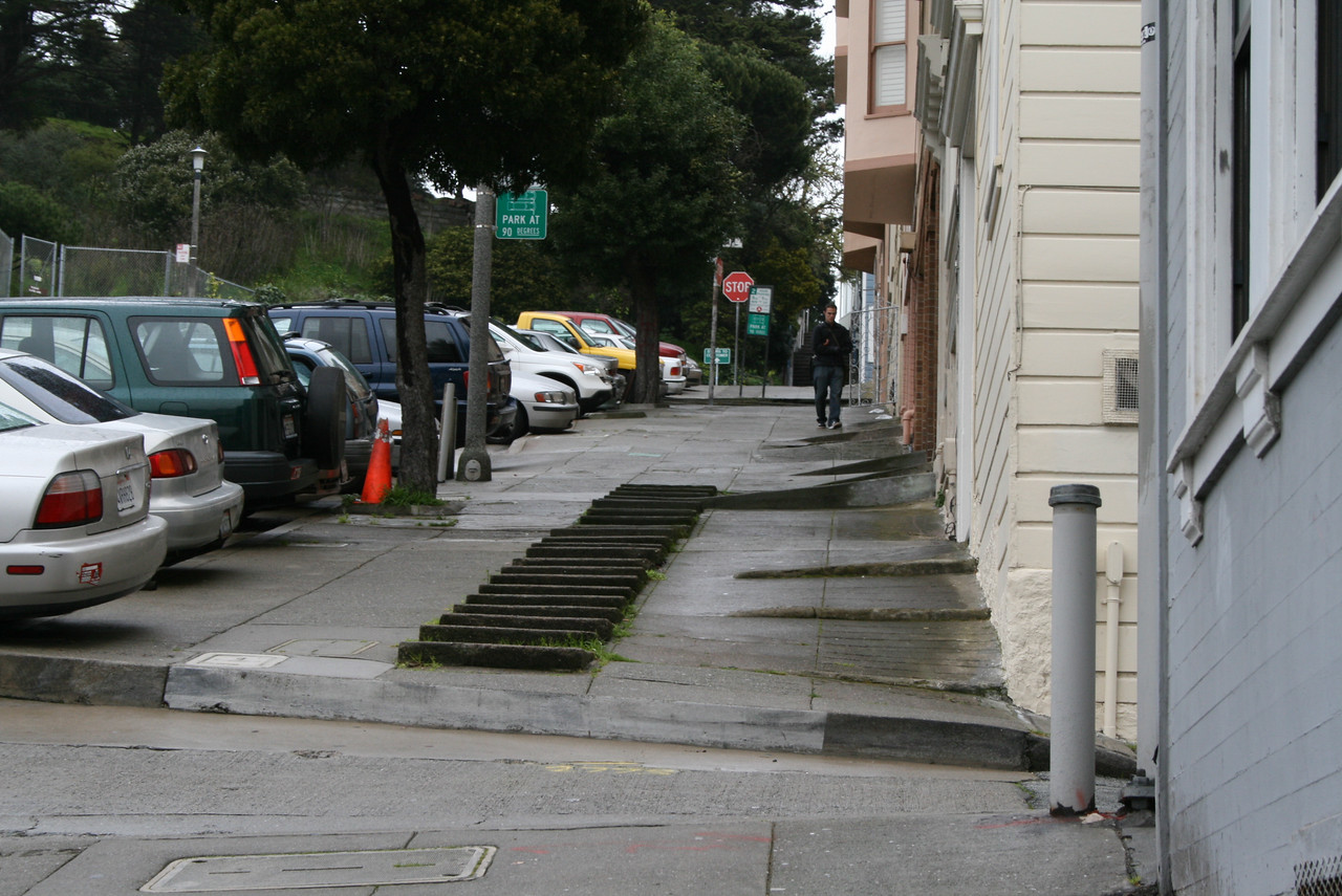 Feb. 19/08 - Climbing the Filbert stairs on Filbert St. to reach Coit Tower, San Francisco