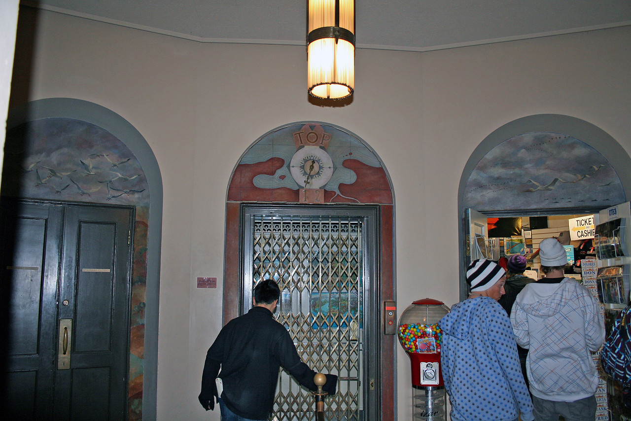 Feb. 19/08 - Vintage elevator in Coit Tower, San Francisco