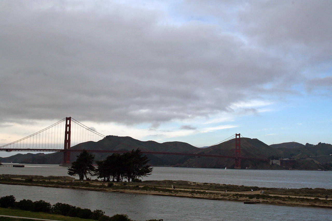 Feb. 18/08 - Golden Gate Bridge & The Bay from the Embarcadero, San Francisco