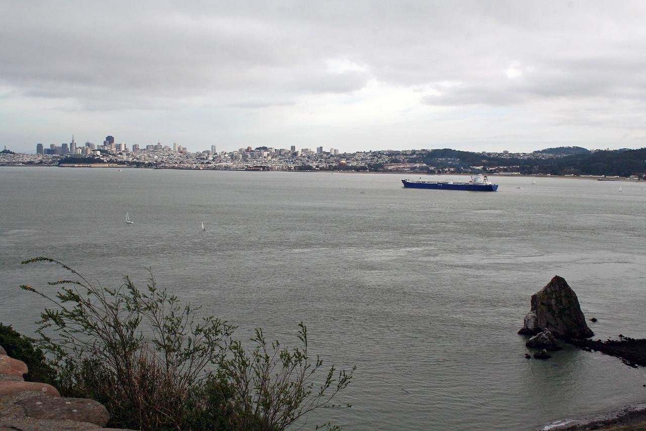 Feb. 18/08 - The Bay & city from Golden Gate Bridge, San Francisco