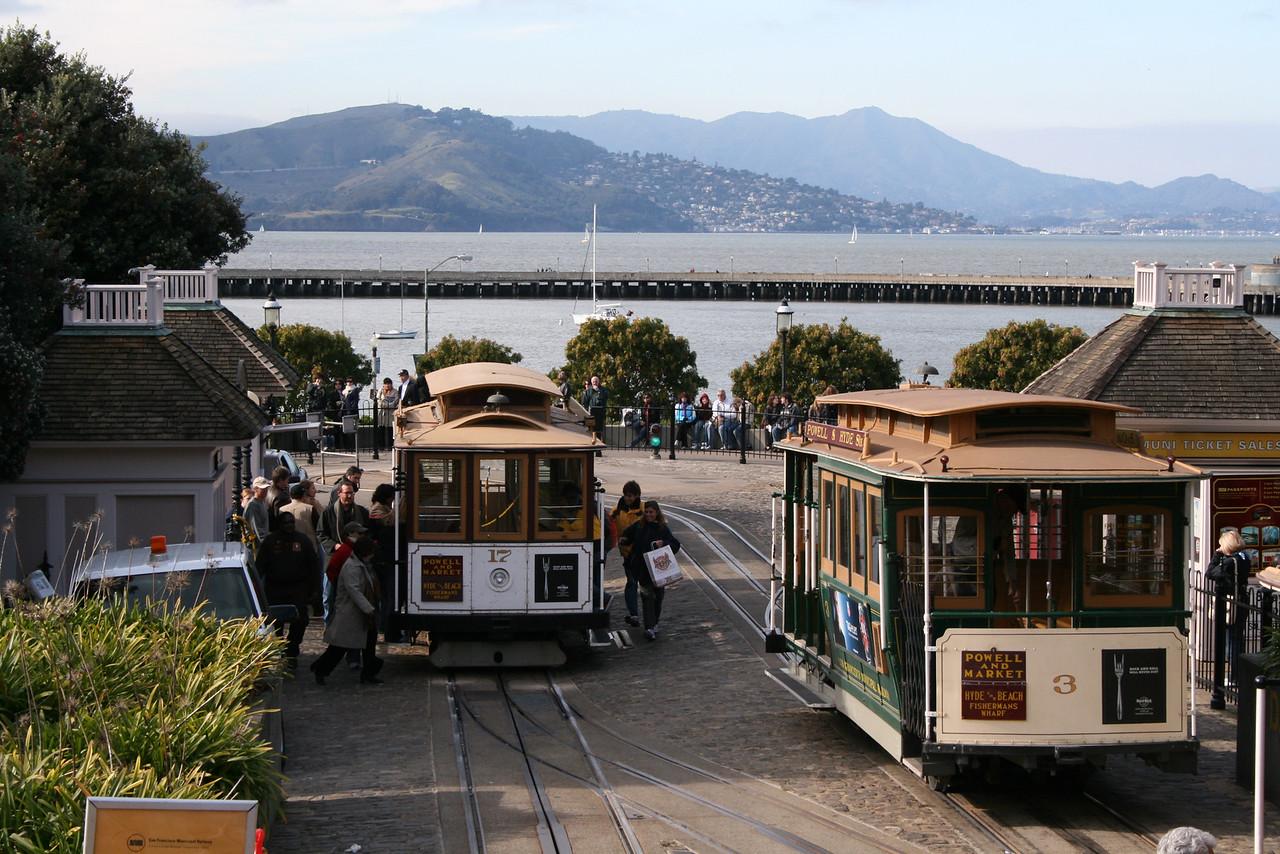Feb. 18/08 - Cable car loop @ The Embarcadero, San Francisco