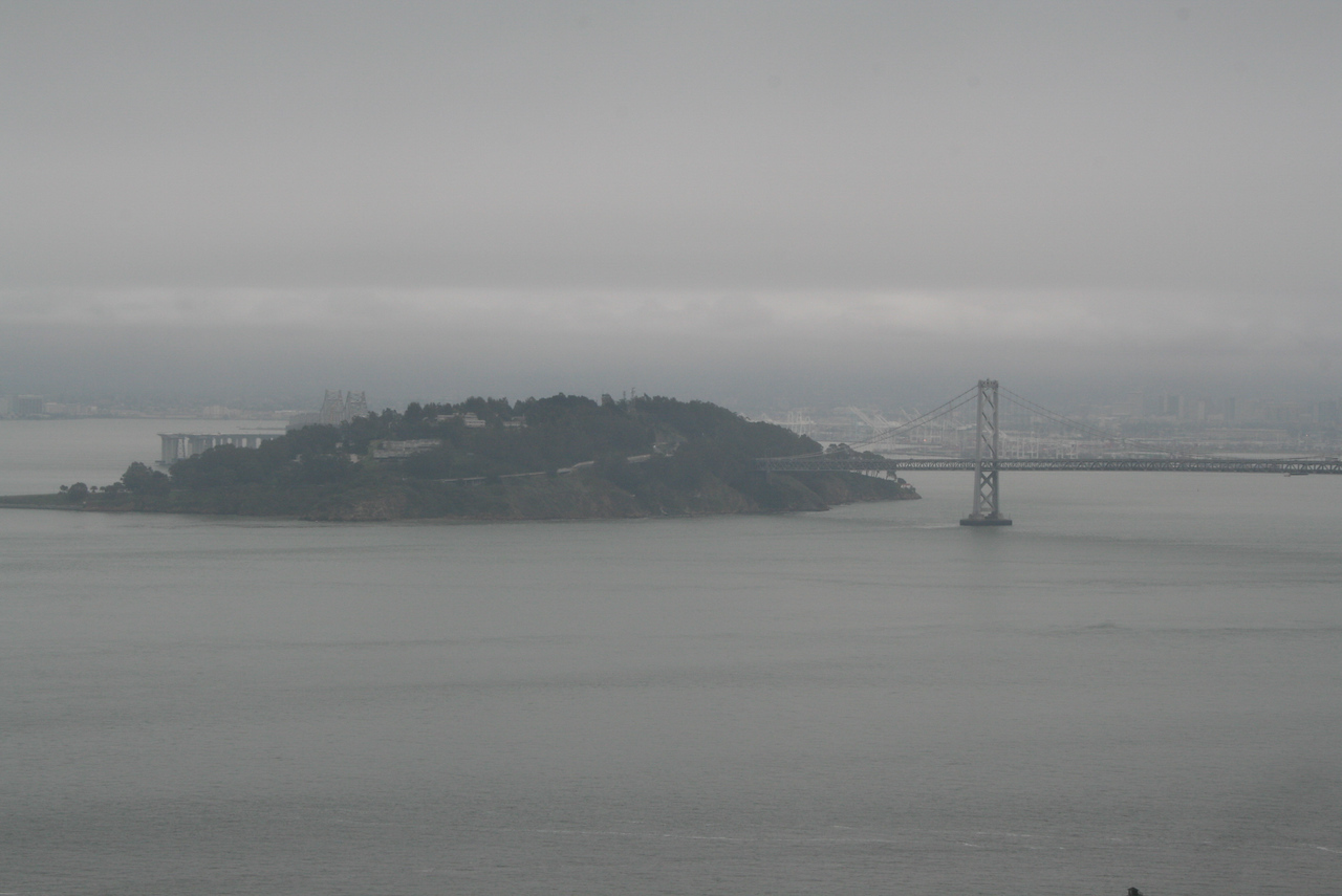 Feb. 19/08 - Bay Bridge - taken from top of Coit Tower, San Francisco