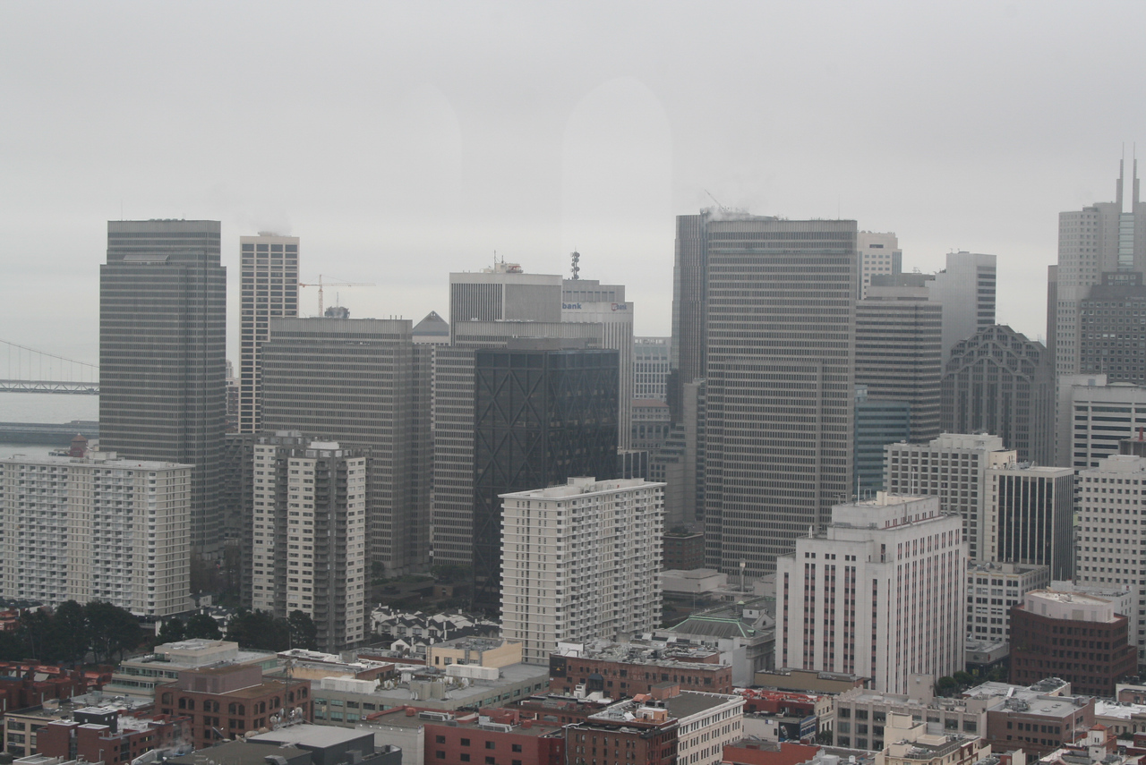 Feb. 19/08 - Financial District - taken from top of Coit Tower, San Francisco