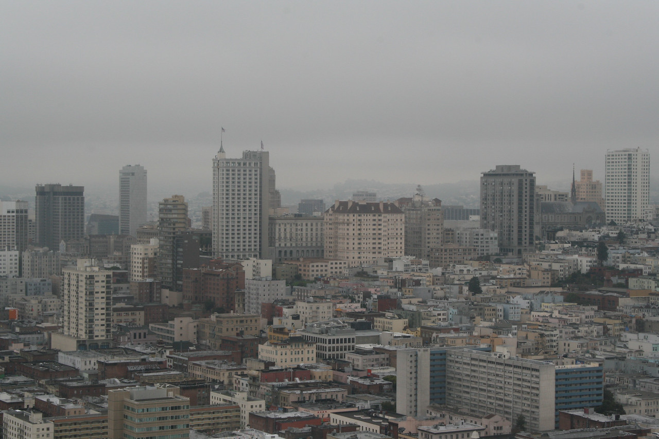 Feb. 19/08 - Downtown S.F. - taken from top of Coit Tower