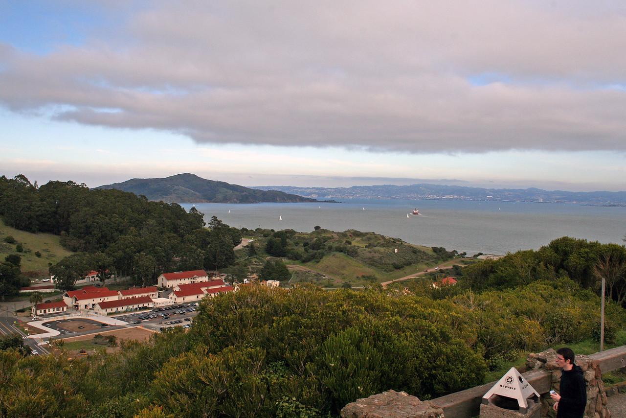 Feb. 18/08 - On the Marin side of the Golden Gate Bridge, San Francisco
