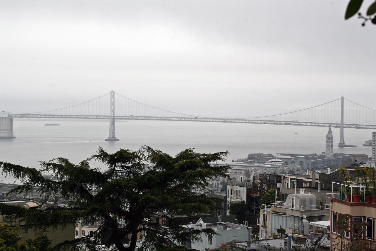 Feb. 19/08 - Bay Bridge from Coit Tower, San Francisco