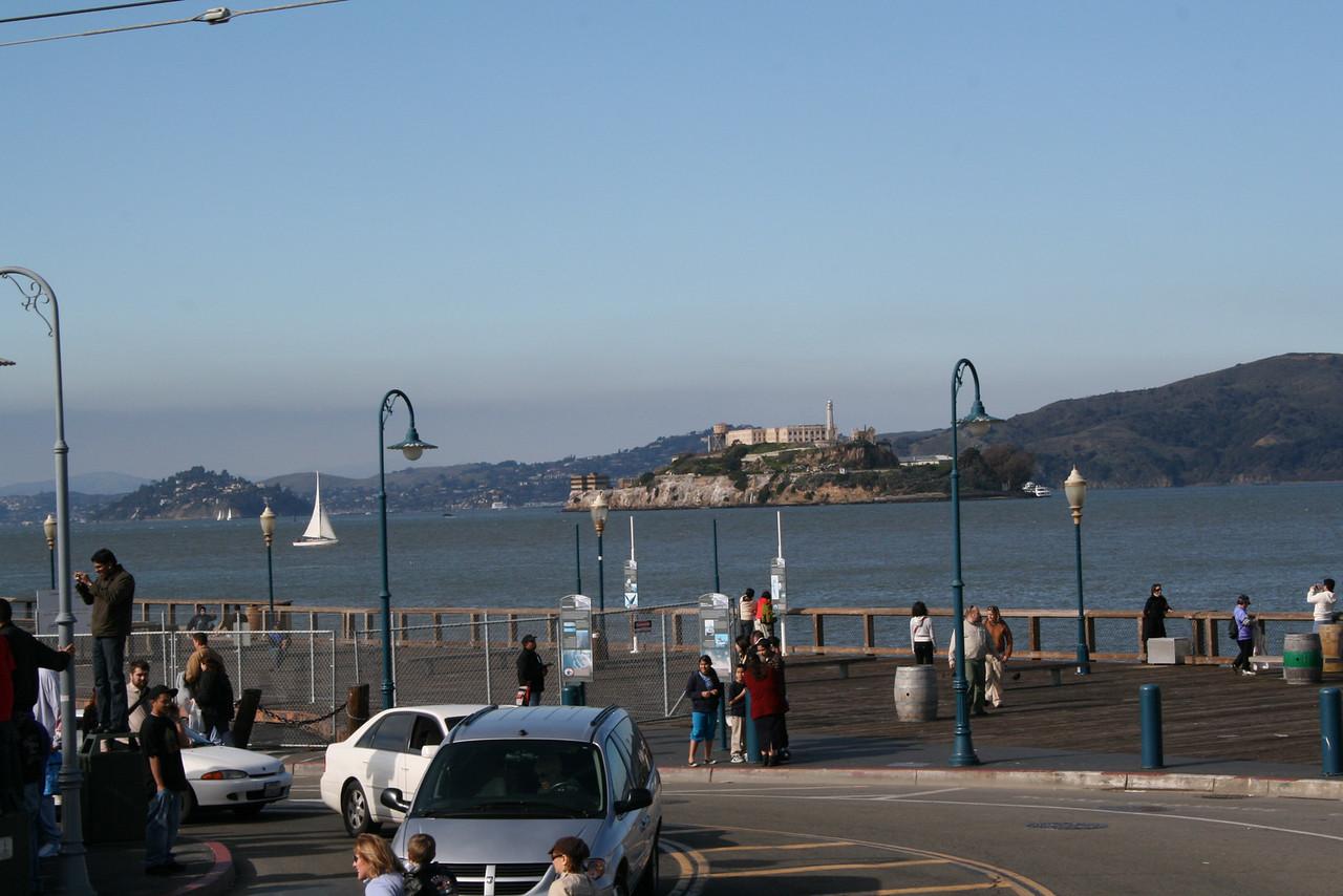 Feb. 18/08 - Alcatraz from Fisherman's Wharf, San Francisco
