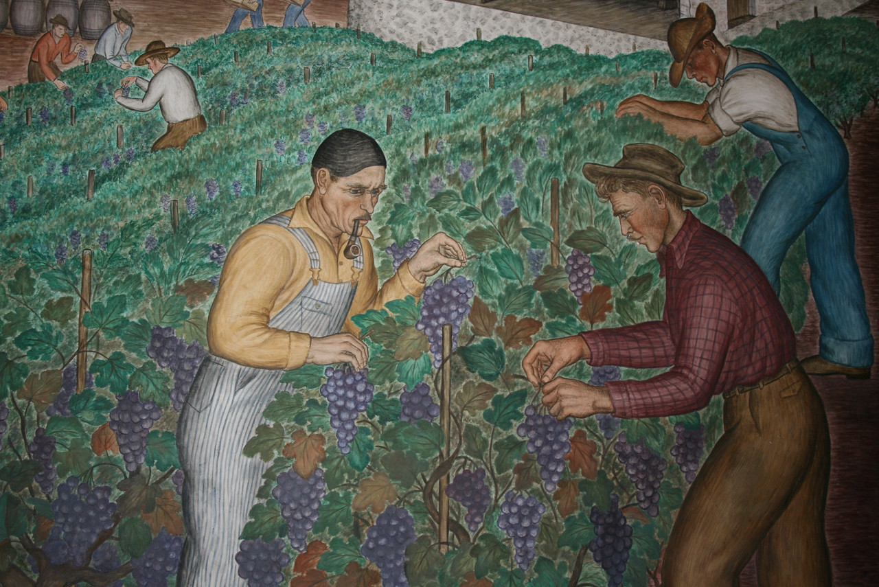 Feb. 19/08 - Murals in lobby of Coit Tower, San Francisco