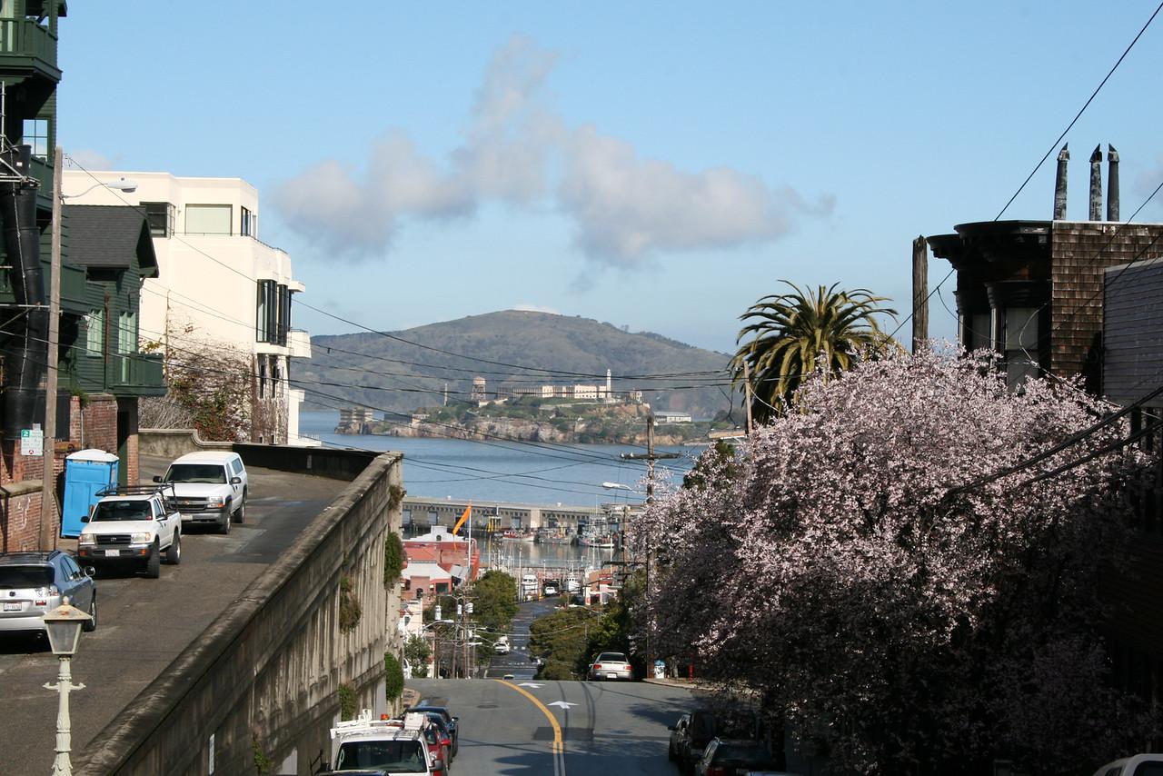 Feb. 20/08 - View of The Embarcadero & Alcatraz from Leavenworth, San Francisco