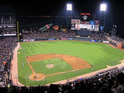 San Francisco Giants in action at A T & T Park in San Francisco