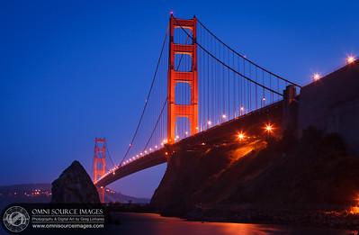 Golden Gate Bridge from Horseshoe Bay Sausalito. Saturday, May 5, 2012.