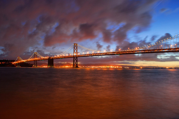 Bay Bridge at dawn, San Francisco, CA