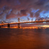 Bay Bridge at dawn, San Francisco, CA