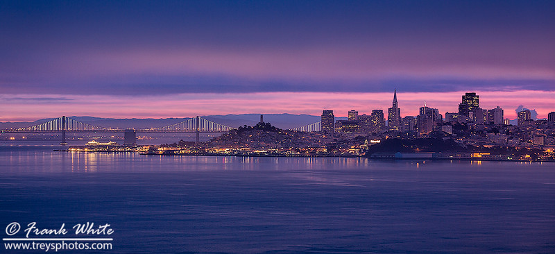 Purple Sunrise over San Francisco
