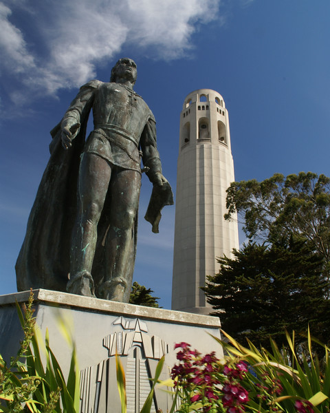 Statue of Columbus at Coit Tower
