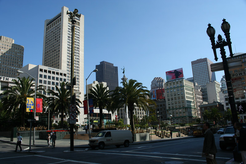 Union Square in the heart of San Francisco.