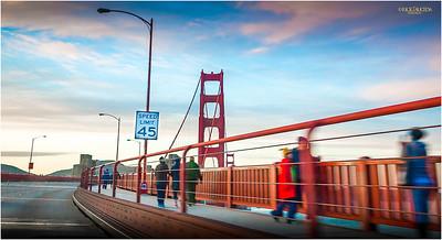 Biking and walking allowed on the Bridge.