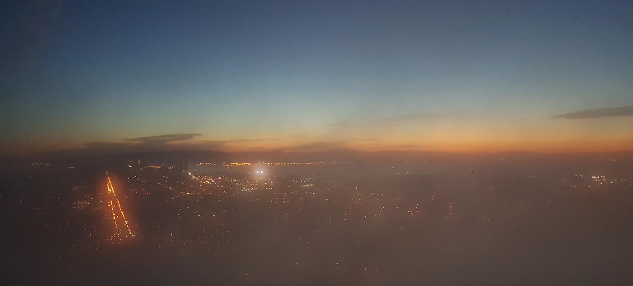Foggy sunrise over SF