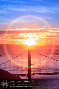 Golden Gate Sunrise Halo