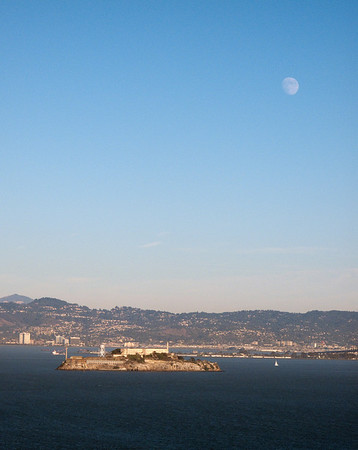 Moon over Alcatraz