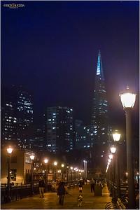 Pier 5,  ascending views of San Francisco skyline