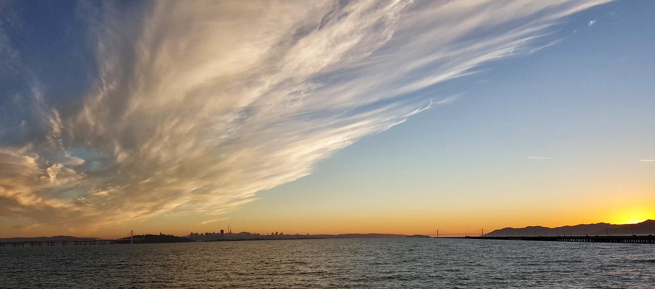 Sunset across the SF Bay