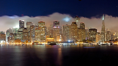 San Francisco Foggy Night skyline