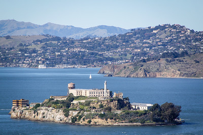 Alcatraz Island taken from the top of Coit Tower.