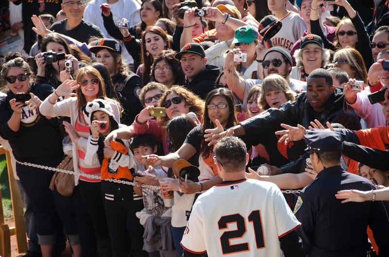 Sanchez greets his fans