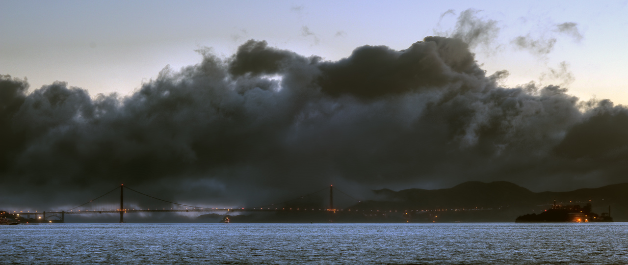 Fog over San Francisco Bay, California
