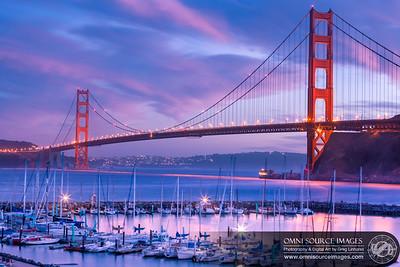 Golden Gate Bridge Twilight - Sausalito, CA