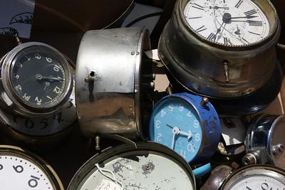 Clocks in Flea Market