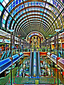 The Crocker Galleria of retail shops in San Francisco