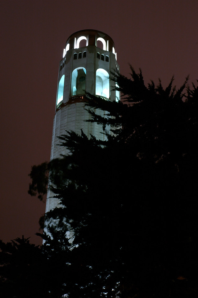 Coit Tower, Nov 2005.