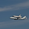 Space Shuttle Endeavour  flies over Crissy Field
