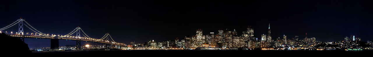 San Francisco at night.