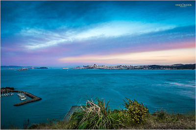 Sausalito's panoramic view of San Francisco