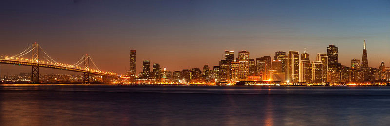SF Panorama at Twilight Christmas 2011