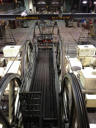 Cable car drive wheels