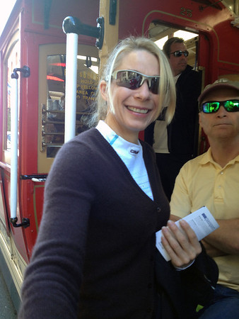 Calla on a cable car
