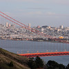 Golden Gate from the Headlands<br /> <br /> Taken just after dusk as the the bridge turns red in the last glow of sunlight.