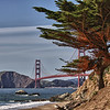 golden gate bridge, san francisco, baker beach