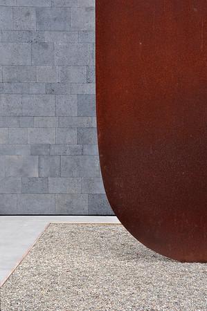 In the Sculpture garden, Museum of Modern Art