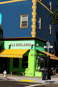 La Boulange French Bakery at 500 Hayes Street near Patricia's Green in the Hayes Valley section of San Francisco, across the street from Stacks Restaurant.