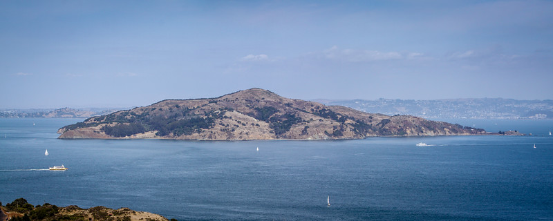 Yerba Buena Island just inside of the San Francisco Bay.