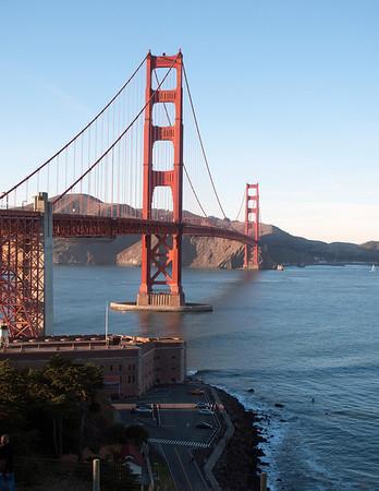 Fort Point on San Francisco side of Golden Gate Bridge